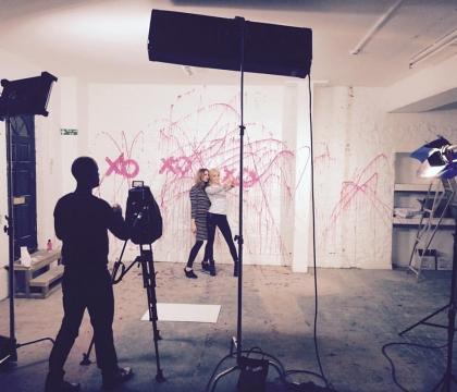 Swansea studio filming, South Wales